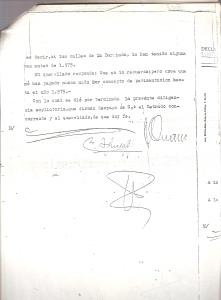 4 de Octubre de 1976. Ampliación de las respuestas del querellado, Sr. Lozano Meridiano, a las preguntas del letrado D. Juan Carlos Aguilar Moreno en presencia del Juez de Instrucción nº 6 de Sevilla.4 de 4