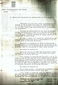 27 de Enero de 1977. Respuesta al Juzgado sobre la forma de financiación de las Obras en la Bda. Mallorca.