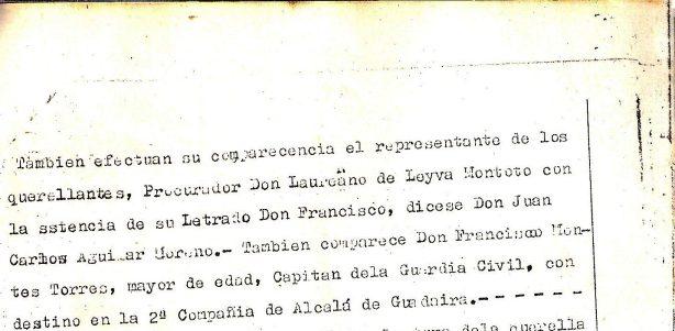 Juicio por la querella por injurias del matrimonio Sánchez-Barbudo al Alcalde de Camas, Juan Lozano Meridiano.