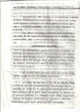 15 de Junio de 1976. 1º folio de la reclamación al Tribunal Económico Administrativo