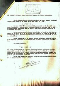 23 de Octubre de 1979. Recurso interpuesto para que se anulase un acuerdo que se había tomado por la Corporación para que se continuase el cobro de las Contribuciones Especiales de la Barriada Mallorca.