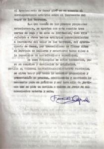 15 de Junio de 1976. Último folio de la reclamación al Tribunal Económico Administrativo